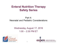 Neonatal and Pediatric Considerations