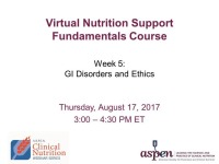 GI Disorders and Ethics