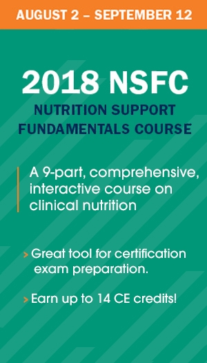 Nutrition Support Fundamentals Course 2018
